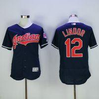 Wholesale Black Indians Francisco Lindor Baseball Jerseys Top Selling Cheap Baseball Shirts Men Baseball Uniform Stitched Baseball Wears