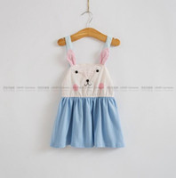 bebe summer dresses - New summer baby clothes children s clothing shoulder cute rabbit bebe dress Bunny cute overalls kid s baby dress