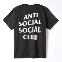 Wholesale ANTI SOCIAL SOCIAL CLUB T Shirt Homme Audlt O Neck Summer Hip Hop Men t shirt Skateboards Street Wear ASSC Tee Shirt