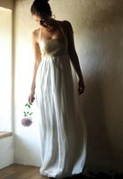 alternative prom dresses - Gold Bohemian Wedding Dress Boho Bridal Gown Prom Evening Dress Chiffon Bridesmaid Dress Alternative Wedding Gown Halter Floor Length