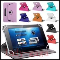 Cheap Universal Cases for Tablet 360 Degree Rotating Case PU Leather Stand Cover 7 8 9 10 inch Fold Flip Covers