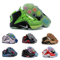 Wholesale Drop Shipping Basketball Shoes Men Retro Lebron Sneakers Boots High Quality Hot Sale LB XII Sports Shoes Size