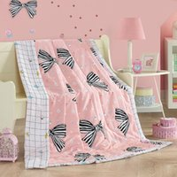 Wholesale big bowknot peach air condition comforter cm cm quilted Quilt thin bedding Blanket Plaids