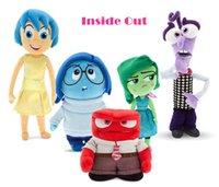 big agent - 13 cm Inside Out Agent Team Plush Toy Cartoon Sadness Fear Joy Disgust Anger Pixar Movie Model Dolls Kids Birthday Games Stuffed Gifts