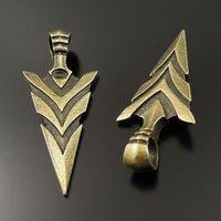 antique arrowheads - 10PCS Antique Bronze Arrowhead Alloy Pendant Charms Jewelry Finding mm AU37018 jewelry making