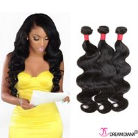 hair weave and wigs - Wet And Wavy Virgin Brazilian Hair Wigs Bundles A Brazilian Virgin Hair Body Wave Cheap Brazilian Human Hair Weaves Natural Color