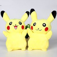 Wholesale DHL Pikachu Plush Dolls cm inch Poke Plush Toys Cartoon Poke Stuffed Animals Toys Soft Christmas Toys Best Gifts