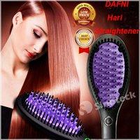 Wholesale 2016 Magic Comb DAFNI Hair Straightener Brush Comb Hair Straightening PK Antomatic LCD Hair Straightener Comb With Spray