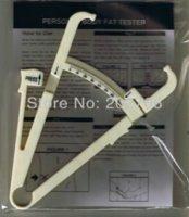 Wholesale 0 mm New Accurate Fitness Body Fat Caliper Tester plastic skinfold caliper Body Fat Monitors