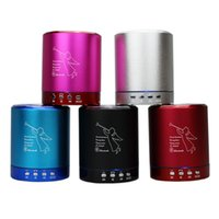 alloy lights - Original T2020A Alloy Mini Bluetooth Speaker with Led Light Super Bass Sound Support TF Card USB Disk FM Handsfree