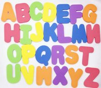 Wholesale hot selling kids puzzle toy foam set alphabet letter numbers for baby intelligence development bath water floating playingthing