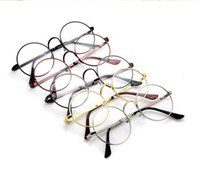 al por mayor lentes del marco de oro al por mayor-5 colores Harry Potter gafas redondas monturas de gafas de Halloween Cosplay Negro Oro Plata llano del espejo vidrios de la manera al por mayor