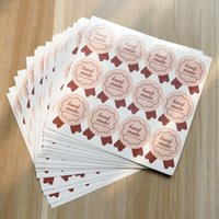 adhesive food labels - 1200pcs Badge style hand made adhesive sticker Baking food decorative packaging label sealing paper stickers