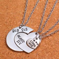best litter - 3PCS Heart Big Middle Litter Sis Fashion Sister Women Girl Jewelry Pendant Necklace Love Girls Necklaces Best Friend Gift Family Charm Party