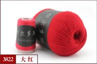 Wholesale Yarn Cashmere Clothing Fabric Erdos Hand knitting Scarf Line Mink Wool Sheep Wool Cashmere Color Options
