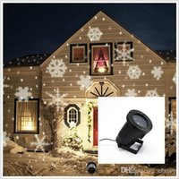 Wholesale 2016 new Waterproof Moving Snow Laser Projector Lamps Snowflake LED Stage Light For Christmas Party Landscape Light Garden Lamp Outdoor