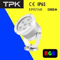 12v 18W Green LED Spot Light, type C,D120*148mm, Aluminium alloy and steel base. 6pcs Power LED 3W, IP65, 24V DC;R,G,B ,W,WW available;20°,30°,40 ° lens o