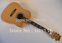 Wholesale brand guitar high quality engaved shell inlay spruce body guitar bag guitar string inch