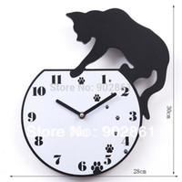 aquarium cat fish - Funlife cm in Fashion Creative Clock Cat Catch Fish in the Aquarium Wall Clock for Kids wc1063