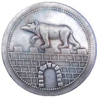 Wholesale Germany copy coins copper silver plated Art collection gifts Retro coins