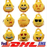 Wholesale 2016 QQ Expression Coin Purses Cute Emoji Coin Bags Plush Pendant Womens Girls Creative Chirstmas Xmas Gifts High Quality XL P155