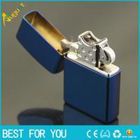 Wholesale Blue ice USB charging cigarette lighter usb lighter Cigar lighter butane lighter torch jet lighter windproof lighter Arc lighter