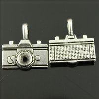 antique camera lot - 40pcs mm antique silver plated Camera charms