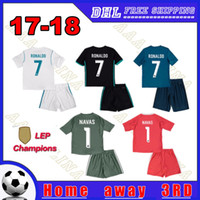 4b2870d658a Soccer Short Polyester 2018 Champions Real Madrid kids kits Soccer Jerseys  17 18 Home Away 3RD