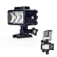 Wholesale 2016 Underwater m Waterproof High Power Dimmable LED Video POV Flash Fill Light Night Light For GoPro Hero W2208A