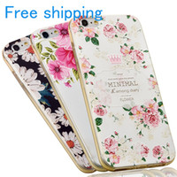 Wholesale Accessory Newest Luxury Mobile Phone Case For Apple iPhone s Plus I6 I6P Plating Secret Garden Flower Diamond Soft TPU Cover new design