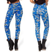 Las mujeres de moda Batman luchando Galaxy Leggings Blue pantalones de buceo Impreso Sky Space Stretchy Breathe Navidad calientes Jeggings Slim Tights
