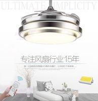 Wholesale Modern LED invisible ceiling fan light remote control ceiling lamp cm W fan W A B C