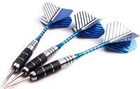 alu foil - 3 of Steel Tip Stainless Darts Grooved Aluminium Shaft and Alu Foil Flights