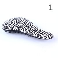 Wholesale Women Fashion Hair Brush Combs Magic Handle Tangle Zebra Leopard Combs Shower Styling Tamer Professional Hairbrush Styling Tool