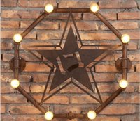 Wholesale Loft Industrial Wall Lamps Antique Edison Wall lights Bulbs E27 V V Vintage Pipe Wall Lamp for Living Room Lighting