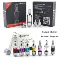 Cheap new kanger Protank 3 Atomizer Full Kit Pro tank 3 Glassomizer with Replacement Dual Coils Glass Tube Protank3 for Vision Spinner 2