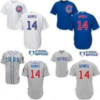 bank boy - Youth chicago cubs Ernie Banks kids Authentic baseball jersey Embroidery logos stitched for sale size S XL