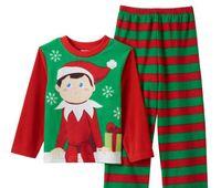 elf on the shelf - 4 boy character winter Elf Christmas Xmas fleece pajamas suits piece pjs sets THE ELF ON THE SHELF