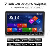 Wholesale In dash Double din Touch Screen Car DVD Universal Car Stereo GPS Navigation DVD Player Radio Bluetooth iPod TV Free Map