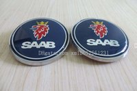 Wholesale 2PCS for SAAB Bonnet Boot Hood Trunk Front Rear Emblem Badge Brand pin Pin