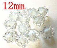 acrylic clear cube - 12mm white color clear Cube acrylic beads in bead Chunky Acrylic Beads for Chunky Necklace