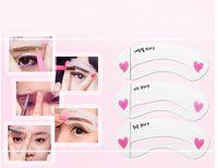 Wholesale 3pcs set Korea Hot Styles Eyebrow Grooming Stencil Kit Beauty DIY Thrush Shaping Templates Threading Thrush Card Eyebrows Tools