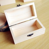 Wholesale High quality wooden box Jewelry Essential oils Wooden boxes Rectangular wooden gift box Grocery Storage No paint wood colors