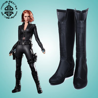 Wholesale Marvel s The Avengers Black Widow Natasha Romanoff new ver Cosplay Shoes Boots shoe boot GS22 anime Halloween Christmas