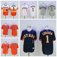 astros baseball team - Men Flexbase Carlos Correa Jersey Houston Astros Carlos Correa Baseball Jerseys Cool Base Fashion Team Color Rainbow Orange White Grey