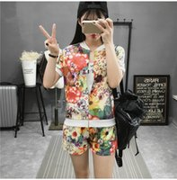 beige short sleeve cardigan - women s Spring Autumn fashion personality sport suit flower