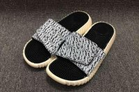 Wholesale 2016 New Summer Casual Kanye West Boost Slippers Massage Men Sandals Outdoor Beach Slippers Scuffs