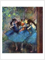 abstract impressionism art - figurative art posters canvas painting mural prints Edgar Degas dancer in blue home decor impressionism masterpiece