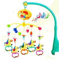 baby bedding carousel - Ship Out Within Hour High Quality Carousel Rattles Mobility In The Crib Baby Toys Baby Mobile Musical Bed Bell With Music