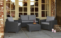 Wholesale High quality Environmental PE rattan wicker sofa set wicker furniture Garden patio furniture outdoor furniture Rattan Wick table chair sofa
